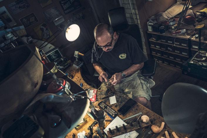 Tom Eltangs Workshop (pipemaker at work)