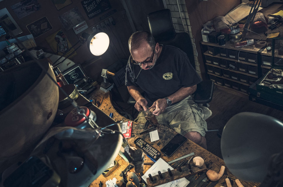 Tom Eltangs Workshop (pipemaker at work)