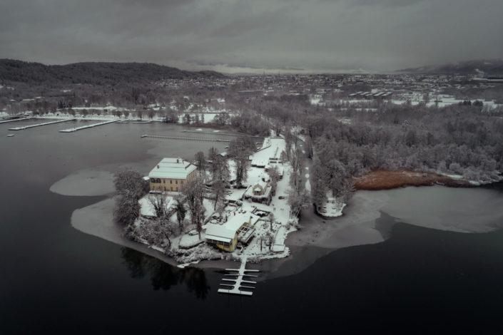 Ostbucht Klagenfurt after Snowfall 2019-01-28