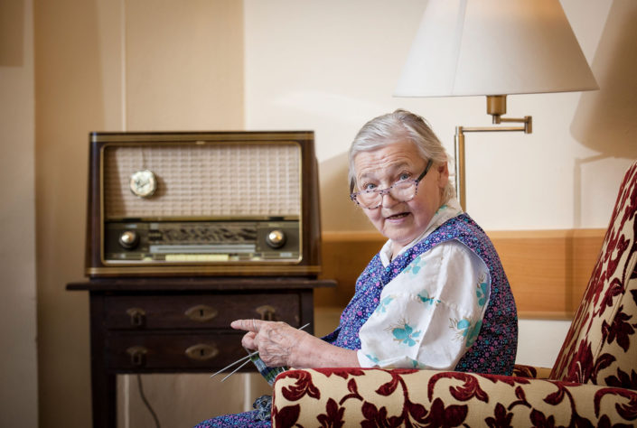 Knitting Grandma
