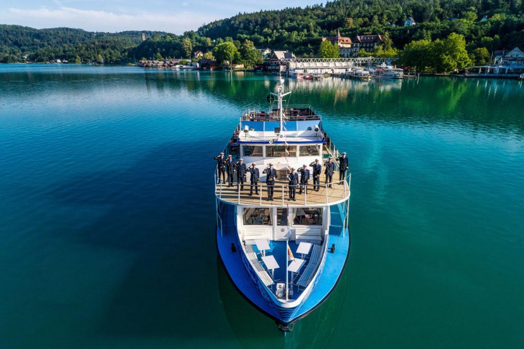 Woerthersee Schifffahrt und Kapitaene 2018-07-10